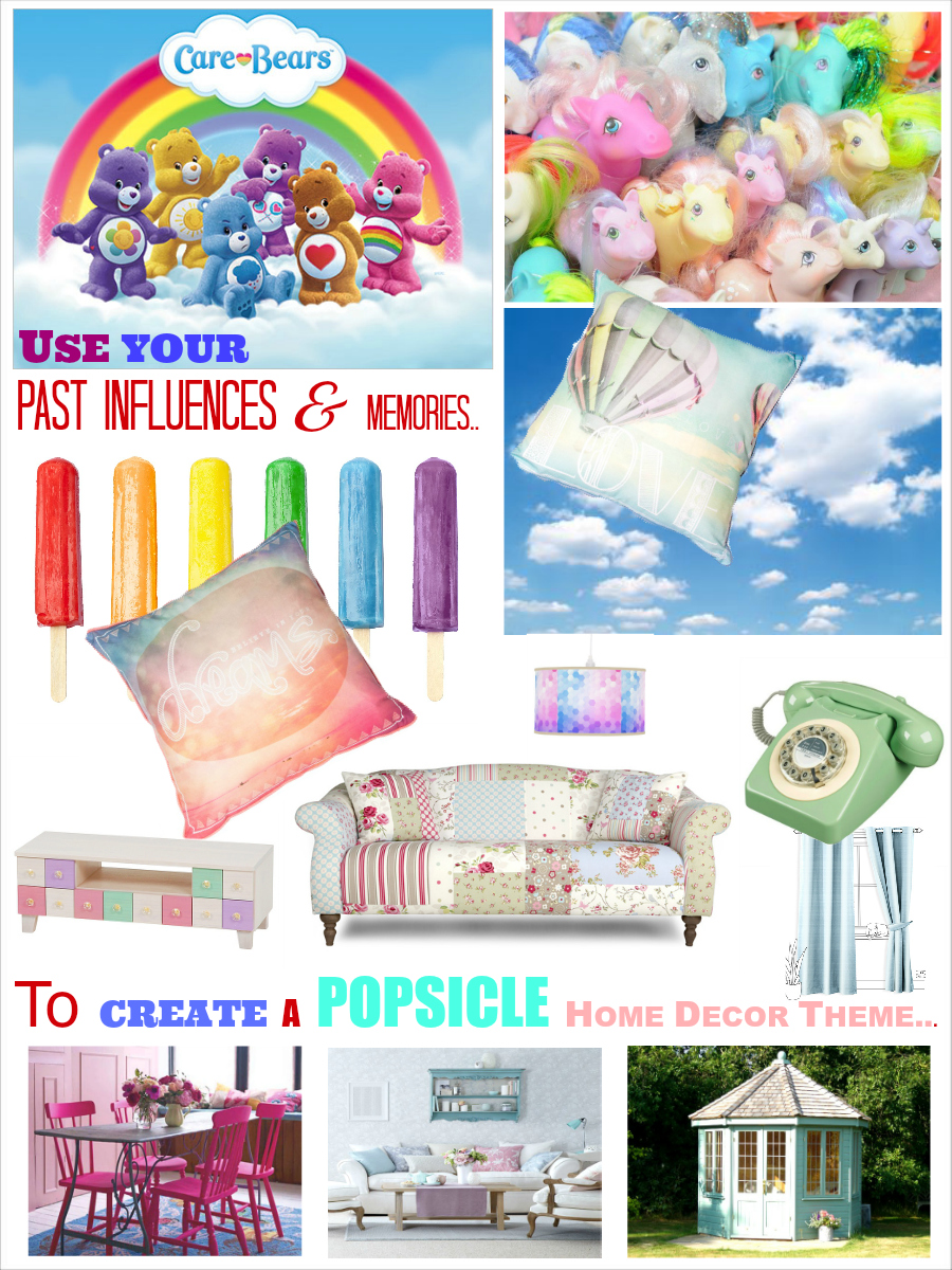popsicle pastel colours home decor mood board