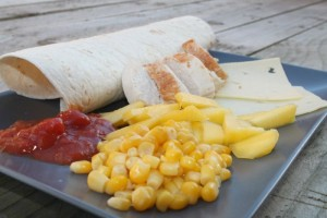Chicken Salsa & Mango Wraps list of products
