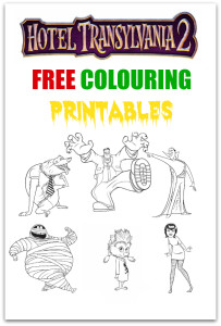 hotel transylvania 2 free colouring printables