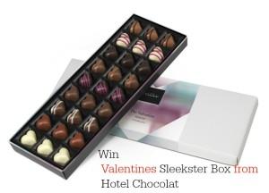 Valentines Sleekster Box from Hotel Chocolat