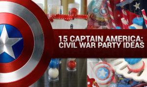 Captain America Civil War Party Ideas