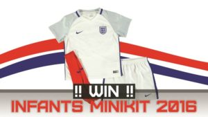 Win a Nike England Home Infants Minikit 2016