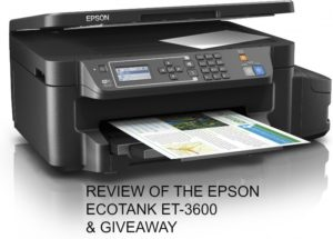 REVIEW OF THE EPSON ECOTANK ET-3600 & GIVEAWAY