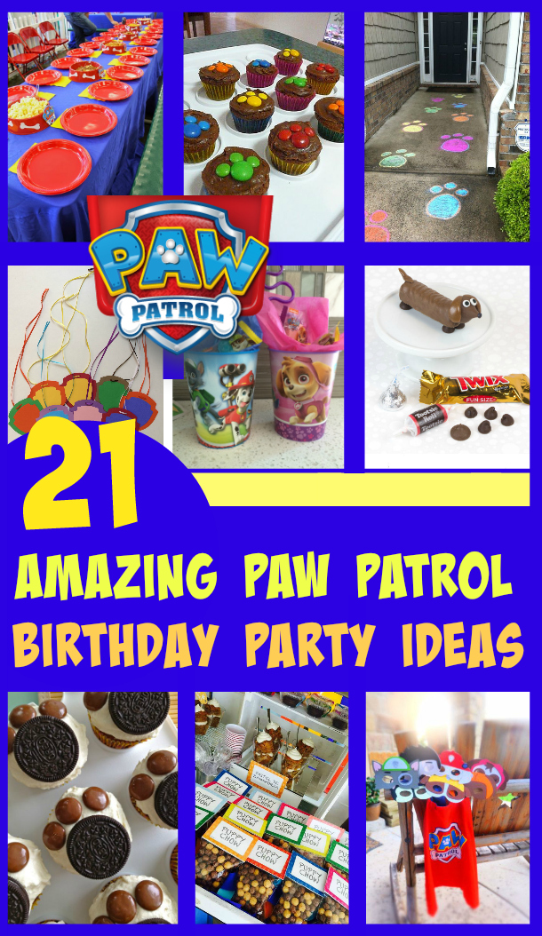 21 Awesome Paw Patrol Birthday Party Ideas U Me And The Kids